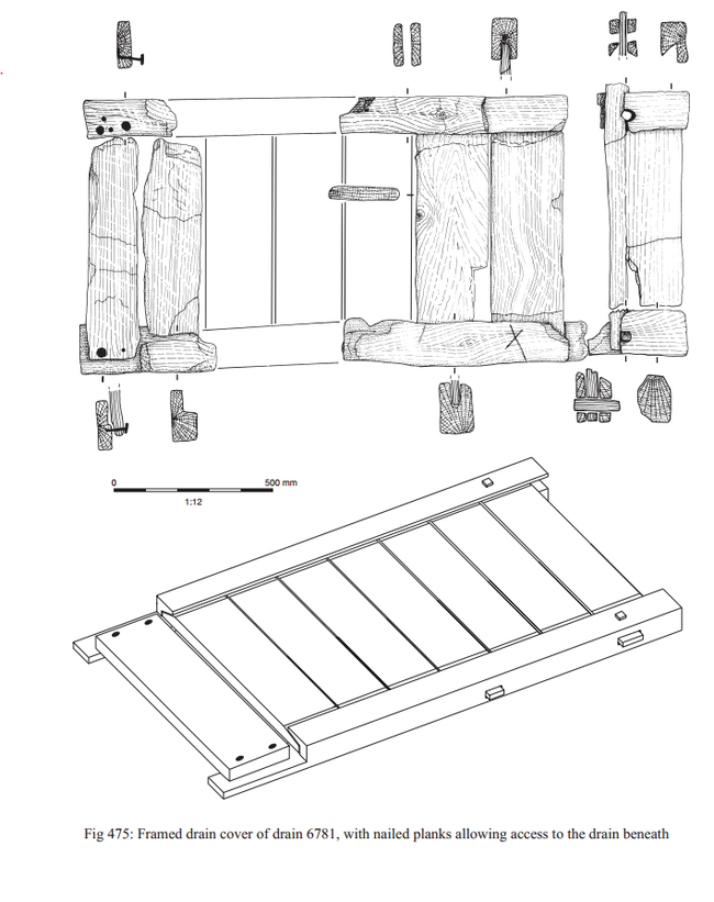 Drawing of roman drain cover